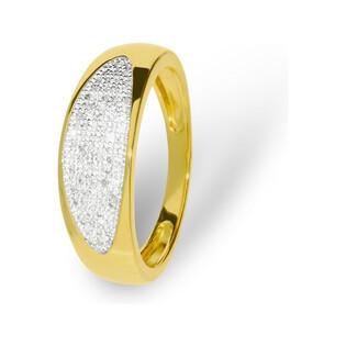Pierścionek zaręczynowy z diamentami LINE KU 106052 próba 585 Sezam - 1