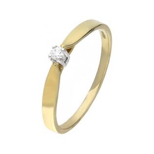 Pierścionek zaręczynowy z brylantem SOLITER  RQ 1576K próba 375 Sezam - 1