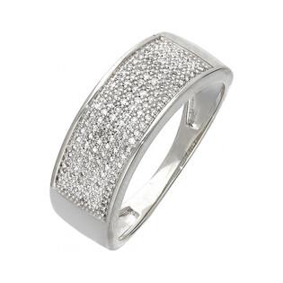 Pierścionek zaręczynowy z diamentami LINE KU 106730 białe złoto próba 585 Sezam - 1
