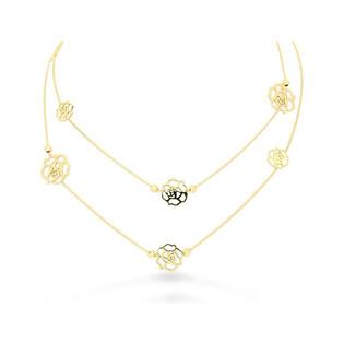 Naszyjnik złoty celebrytka z różami nr BC 023 próba 585 Sezam - 1
