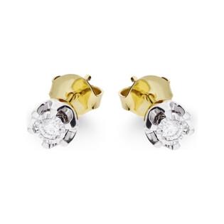 Kolczyki złote z diamentami nr KU 36560 Y Sezam - 1