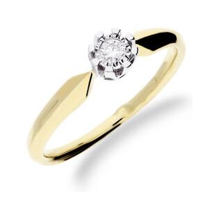 Pierścionek złoty zaręczynowy z diamentem ROYAL Magic KU 68502 próba 585 Sezam - 1