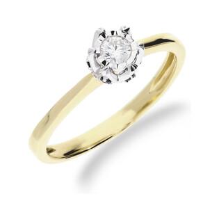 Pierścionek złoty z brylantem i szafirami ROYAL Magic KU 5143X SAP próba 585 Sezam - 1