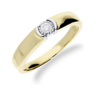 Pierścionek zaręczynowy z diamentem nr KU 67502 Au 585 Elegance Sezam - 1