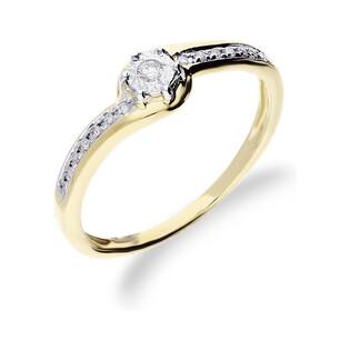 Pierścionek zaręczynowy z diamentami Soliter Magic nr RQ 463M Au 585 Sezam - 1