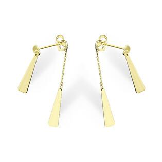 Kolczyki złote wiszące trójkąty AR 1869 Au 333 Sezam - 1