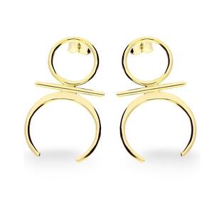 Kolczyki złote SIMPLE nr AR 10545 Au 333 Sezam - 1