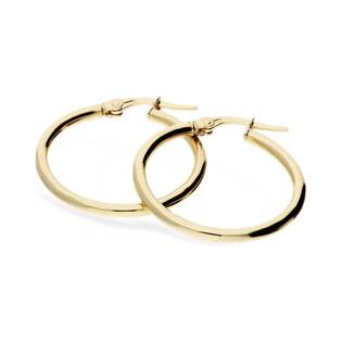 Kolczyki złote kółka OS 180-520-228 Au 585 Sezam - 1