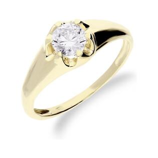 Pierścionek złoty kwiatek z cyrkonią os 96-0633-8 Au 585 Sezam - 1