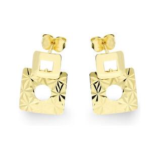 Kolczyki złote kwadraty AR 7780 Au 585 Sezam - 1