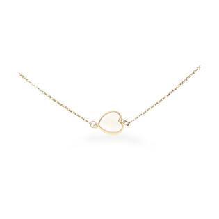 Naszyjnik serce masa perłowa biała-anker AR 0339-II-MOP próba 585 Sezam - 1
