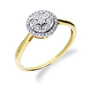 Pierścionek złoty z diamentami Sweet nr RO K122 Au 585 Sezam - 1