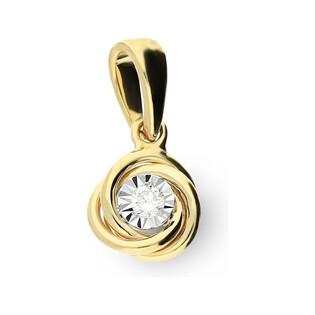 Zawieszka złota z diamentem nr RO AE107 Sezam - 1