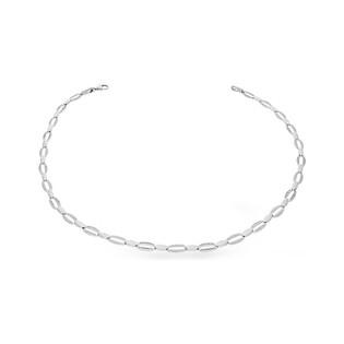 Naszyjnik srebrny stampato z cyrkoniami nr OL RTN260 Sezam - 1