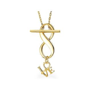 Naszyjnik złoty infinity z napisem love nr AR X5FOR6N2072-II Au 585 Sezam - 1