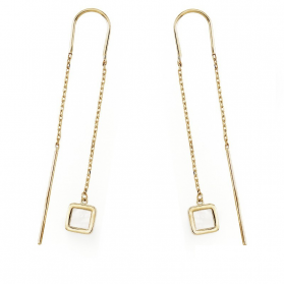 Kolczyki złote wiszące z masą perłową nr AR KR(0-X3)FOR6EB0344-MOP Au 333 Sezam - 1