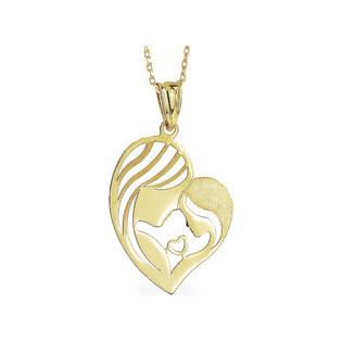 Naszyjnik złoty serce mama i dziecko nr AR VX5FOR6N3346-FL Au 333 Sezam - 1