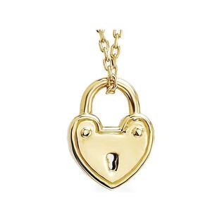Naszyjnik złoty z kłódką w kształcie serca nr AR X5FOR6N3134-II Au 333 Sezam - 1