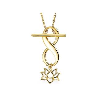Naszyjnik złoty infinity z lilią nr AR X5FOR6N2070-II Au 333 Sezam - 1