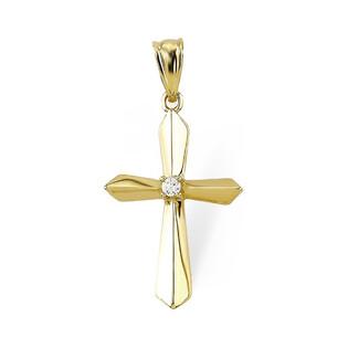 Krzyżyk złoty z cyrkonią nr AR VCP3340-II-FCZ-LP Au 333 Sezam - 1