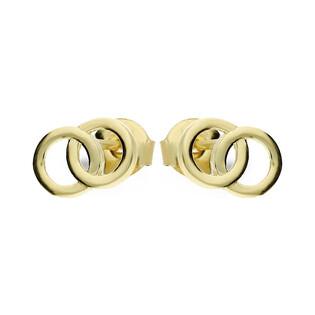 Kolczyki złote klanówka, sztyft nr MZ T5-ES-810 próba 375 Sezam - 1