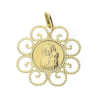 Medalik złoty z wizerunkiem Matki Boskiej Częstochowsiej nr BC BC065 Au 585 Sezam - 1