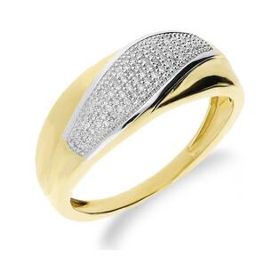 Pierścionek zaręczynowy z diamentami LINE KU 106947 próba 585 Sezam - 1