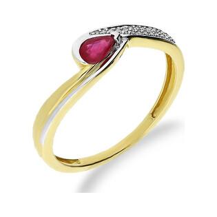 Pierścionek rubin 0,31ct MARIAGE bis-0,04ct KU 107343 RB próba 585 Sezam - 1