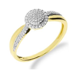Pierścionek złoty zaręczynowy z diamentami KU 106740próba 585 Sezam - 1