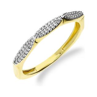 Pierścionek zaręczynowy z diamentami LINE KU 107324 próba 585 Sezam - 1