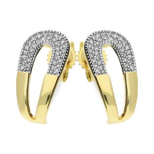 Kolczyki złote MIRAGE z diamentami nr KU 102171-103225 Sezam - 1