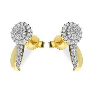 Kolczyki złote MIRAGE z diamentami nr KU 102214-102861 Sezam - 1