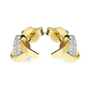 Kolczyki złote z diamentami nr KU 102405-103187 Sezam - 1