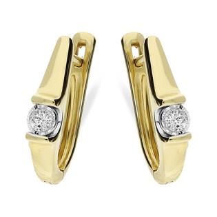 Kolczyki złote z diamentami VICTORIA Magic KU 1620-1415 próba 585 Sezam - 1