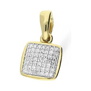 Zawieszka MIRAGE z diamentami KU 102028-103113 próba 585 Sezam - 1