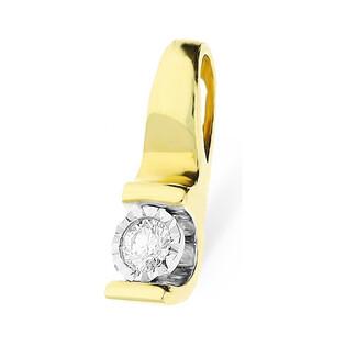 Zawieszka złota z diamentem Victoria nr KU 1415 Au 585 Sezam - 1