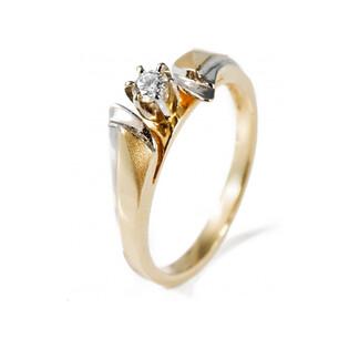 Pierścionek zaręczynowy z diamentem PASSION MC P5 próba 585 Sezam - 1