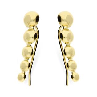 Kolczyki złote półkulki nr AR 12132 półkulki x5 Au 585 Sezam - 1