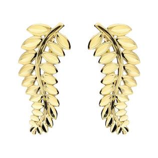 Kolczyki złote nausznice w kształcie liścia nr AR XE12690-DC Au 585 Sezam - 1
