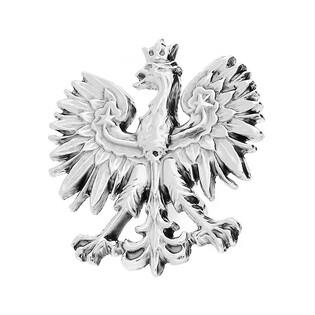 Wpinka srebrna patriotyczna orzeł biały nr MV MV godło Sezam - 1
