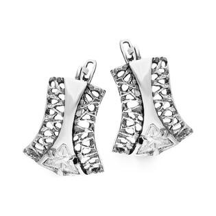 Kolczyki srebrne ażurowe z cyrkonią nr SZ SZ093 KK Sezam - 1