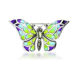 Broszka srebrna motyl z witrażem z kolekcji Zahira nr SR 189 Sezam - 1