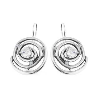 Kolczyki srebrne ażurowe z cyrkoniami nr SZ SZ089 Sezam - 1
