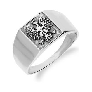 Sygnet męski srebrny z orłem nr SZ SZ017 Sezam - 1