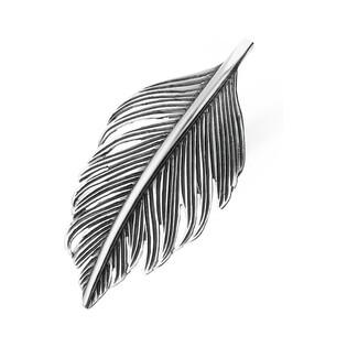 Broszka srebrna piórko nr SZ SZ024 Sezam - 1