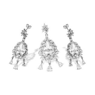Komplet srebrny z cyrkoniami nr A0 AUR 039 Sezam - 1