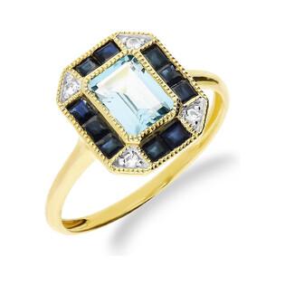 Pierścionek złoty z kamieniami naturalnymi nr RSV0256 próba 585 Sezam - 1