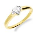 Pierścionek zaręczynowy z diamentem UNICO KU 109497 próba 585 Sezam - 1