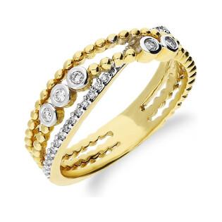 Pierścionek złoty z diamentami VENEZIA KU 109655 próba 585 Sezam - 1