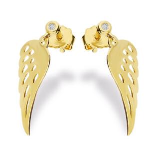 Kolczyki skrzydła z diamentem BE CK-12 Sezam - 1